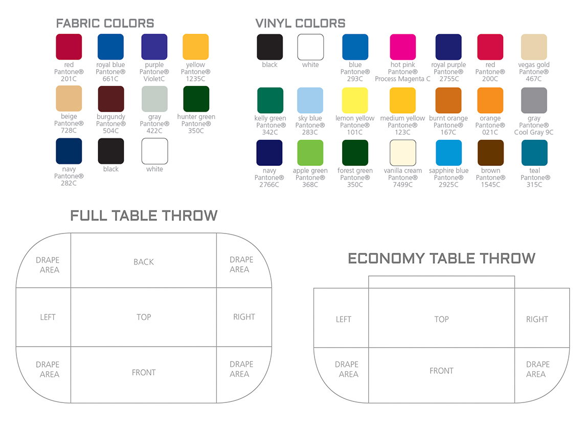 Tablecloth Color Chart