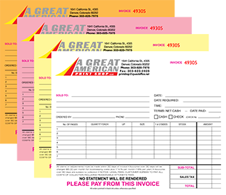 Carbonless Form Printing Denver Co A Great American